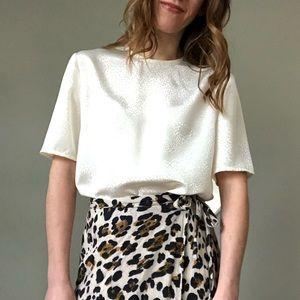 Vintage cream blouse